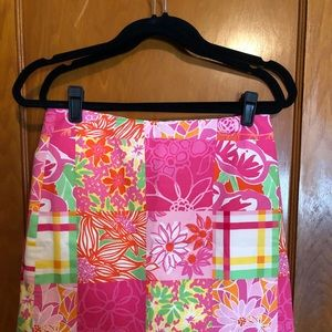 Lilly Pulitzer Patchwork Patterned Skirt